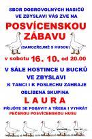 Posvícenská zábava Zbyslav 16.10.2021
